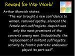 reward for war work1