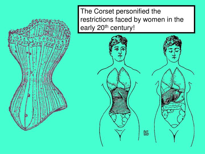 The Corset personified the restrictions faced by women in the early 20