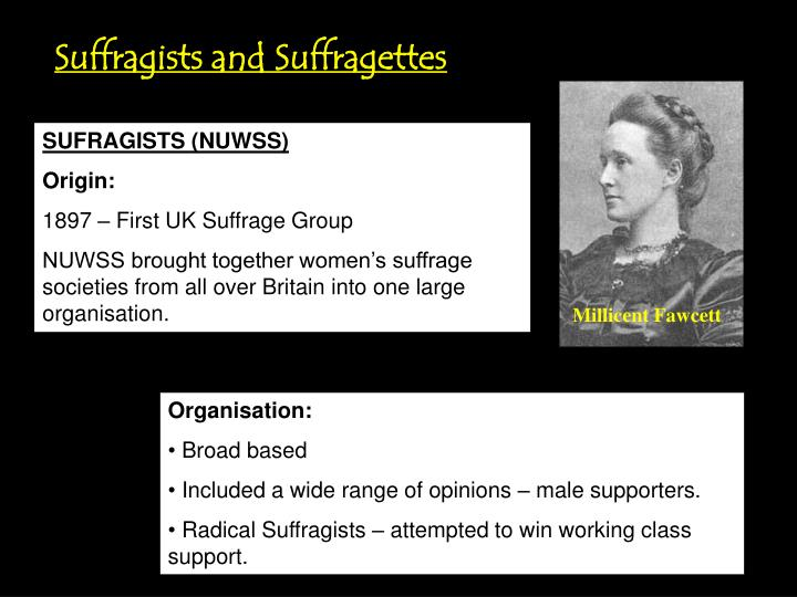 Suffragists and Suffragettes