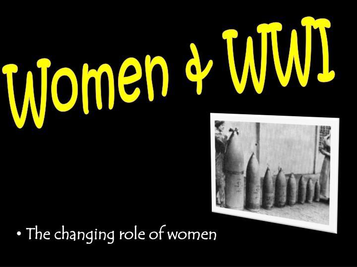 Women & WWI
