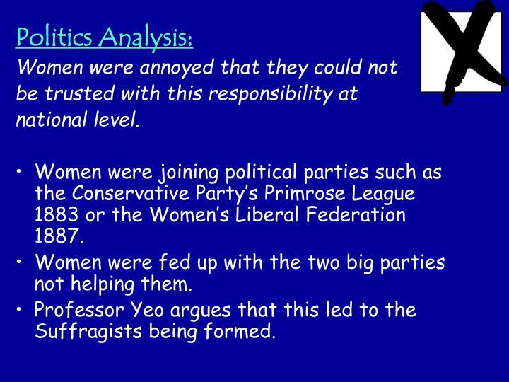 Politics Analysis: