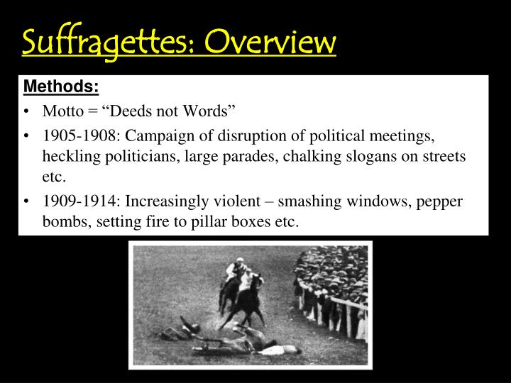Suffragettes: Overview