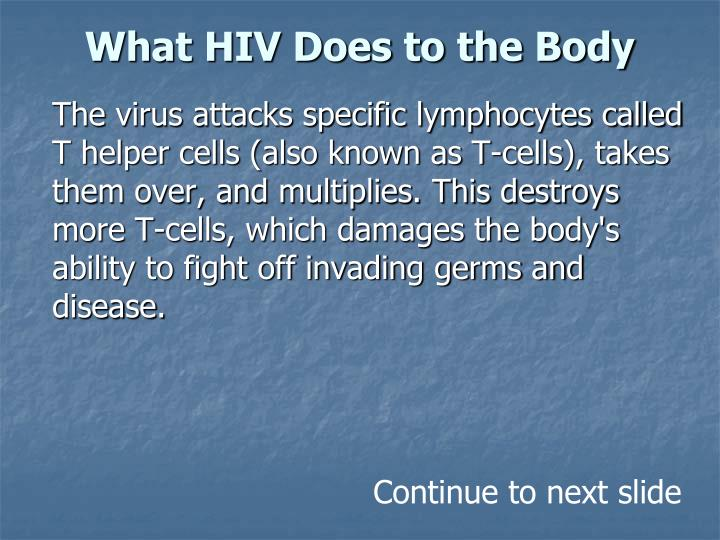 What HIV Does to the Body