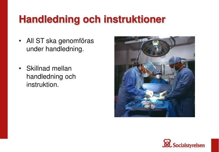 Handledning och instruktioner