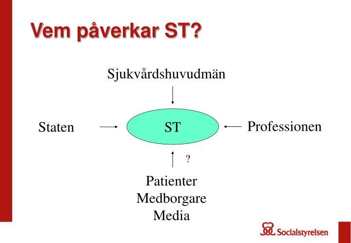 Vem påverkar ST?