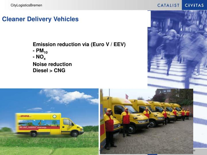Cleaner Delivery Vehicles
