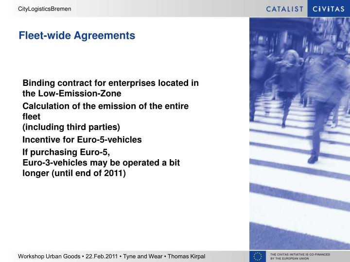 Fleet-wide Agreements