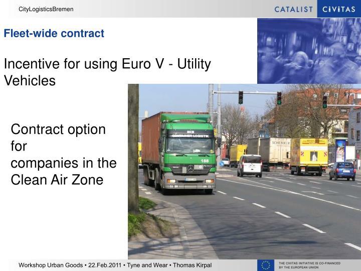 Fleet-wide contract
