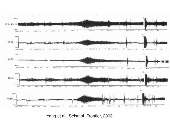 Yang et al., Seismol. Frontier, 2003