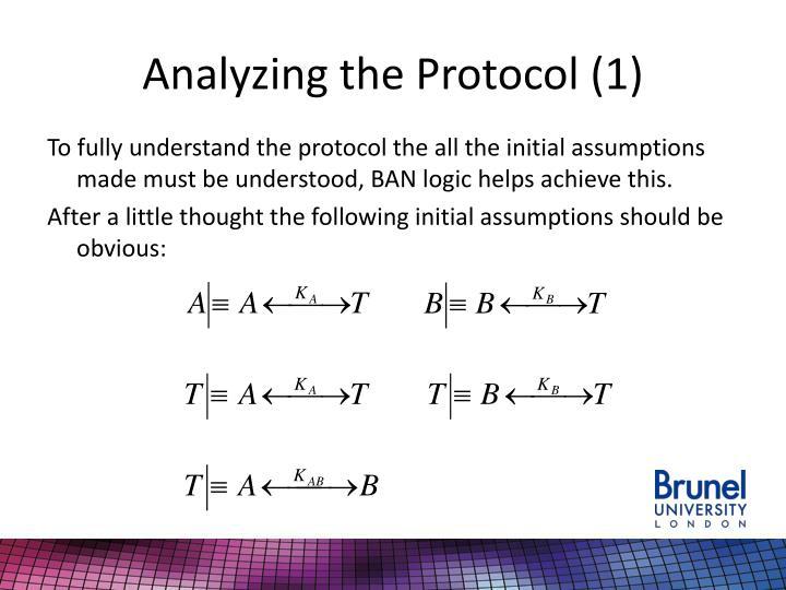 Analyzing the Protocol (1)