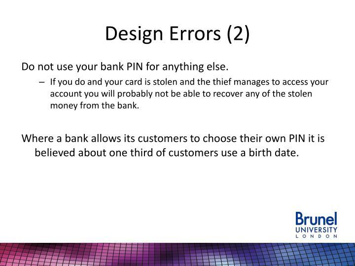 Design Errors (2)