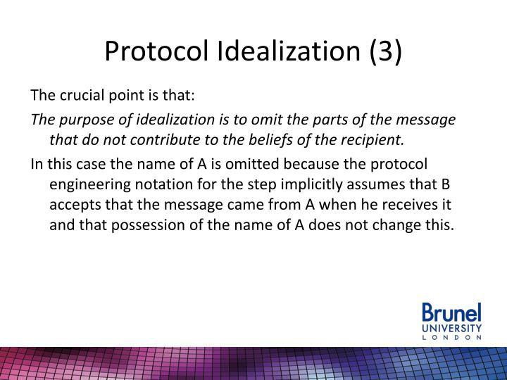 Protocol Idealization (3)
