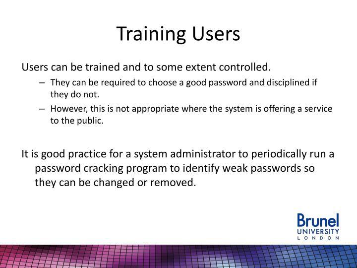 Training Users