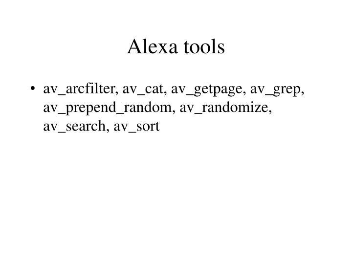 Alexa tools