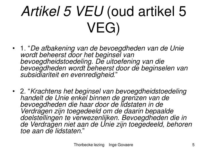 Artikel 5 VEU