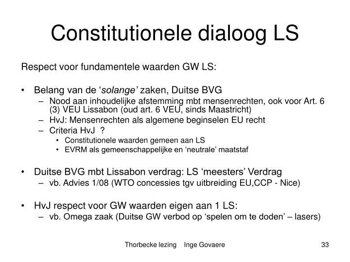 Constitutionele dialoog LS
