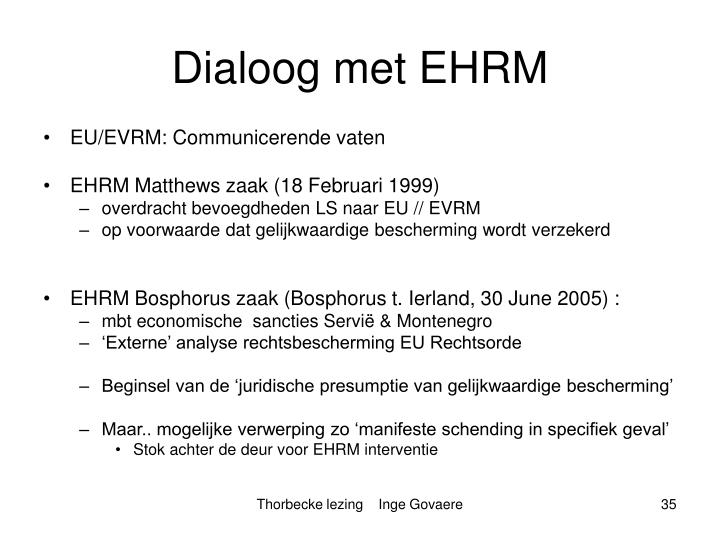 Dialoog met EHRM