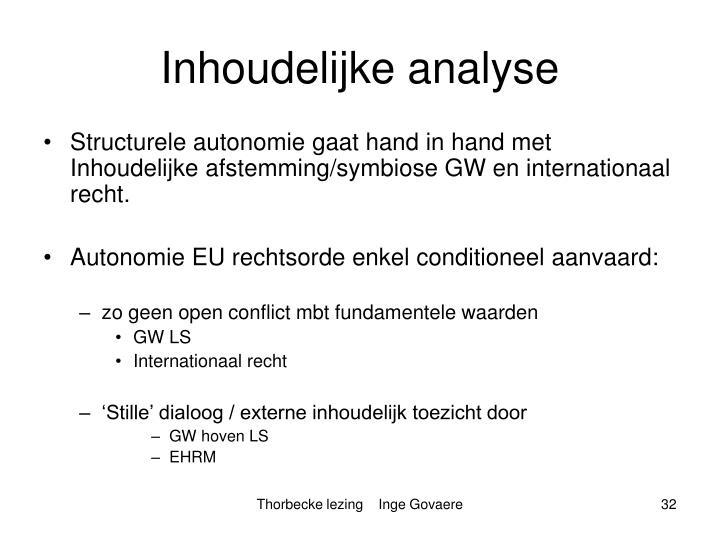 Inhoudelijke analyse
