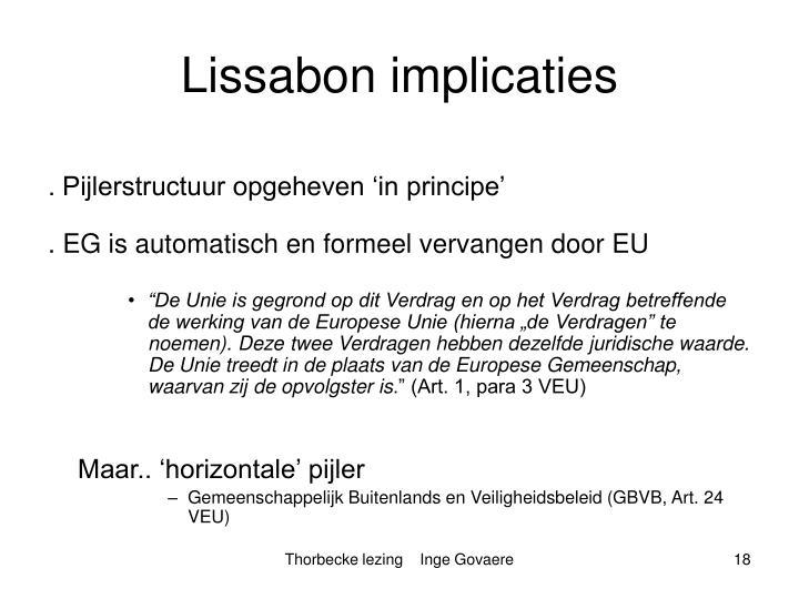 Lissabon implicaties