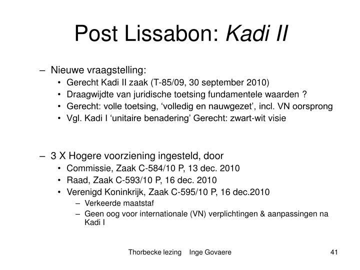 Post Lissabon:
