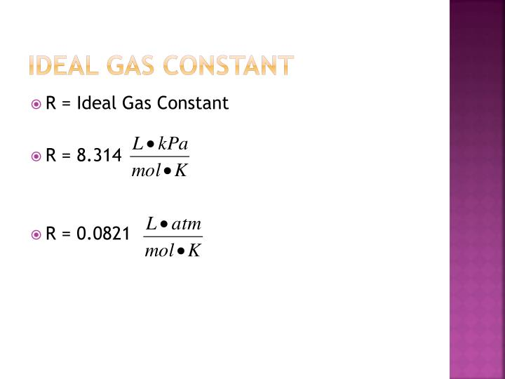 Ideal gas constant