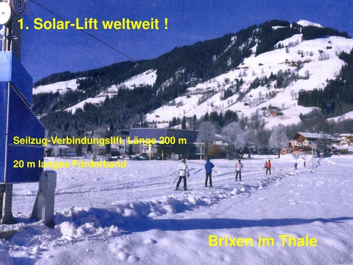 1. Solar-Lift weltweit !