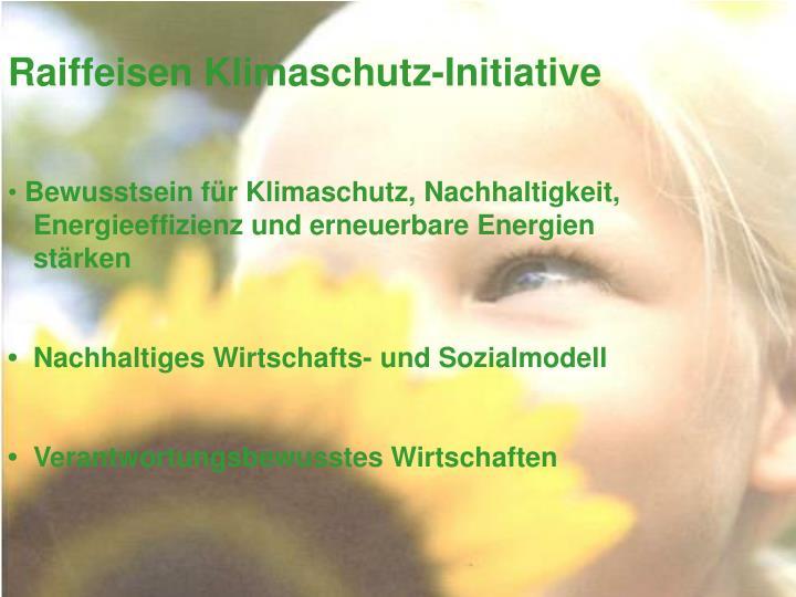 Raiffeisen Klimaschutz-Initiative