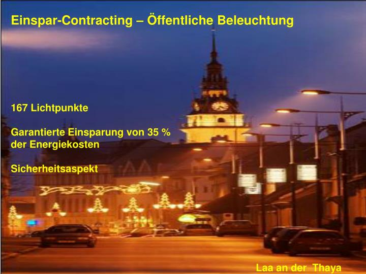 Einspar-Contracting – Öffentliche Beleuchtung