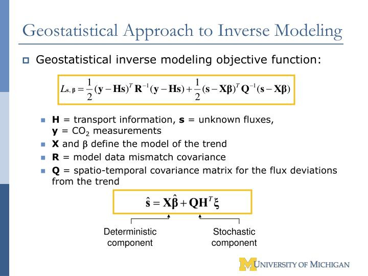 Geostatistical Approach to Inverse Modeling