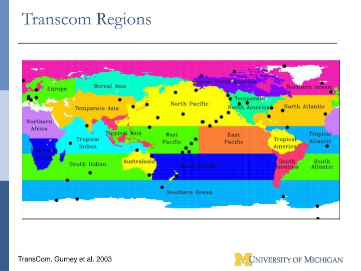 Transcom Regions