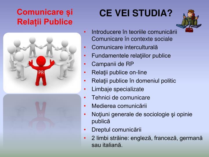 Comunicare și