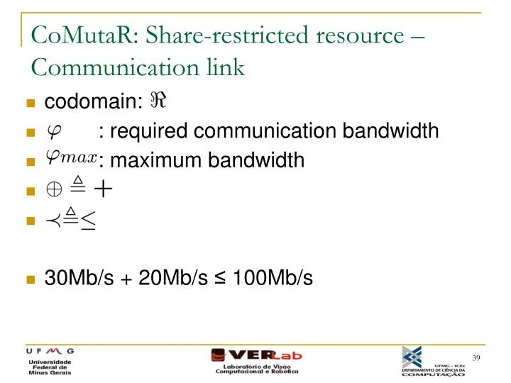 CoMutaR: Share-restricted resource – Communication link