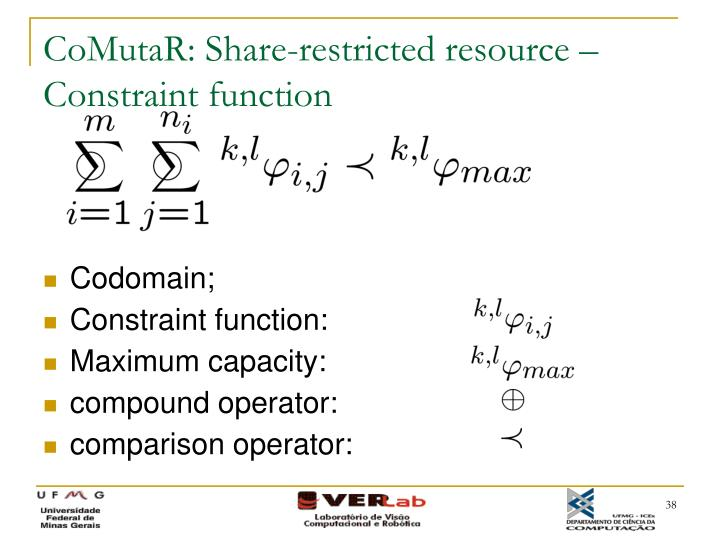 CoMutaR: Share-restricted resource – Constraint function