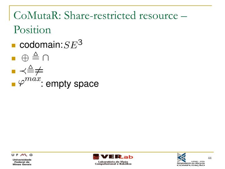 CoMutaR: Share-restricted resource – Position