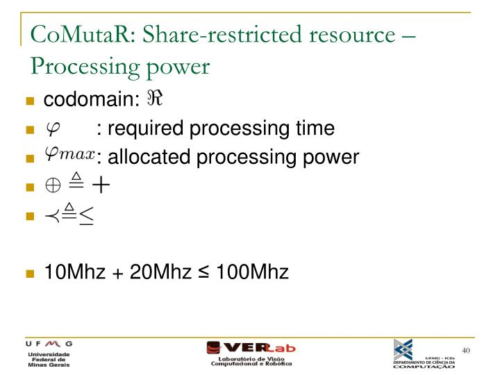 CoMutaR: Share-restricted resource – Processing power