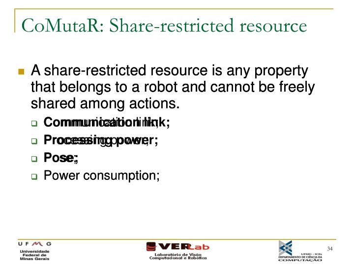 CoMutaR: Share-restricted resource