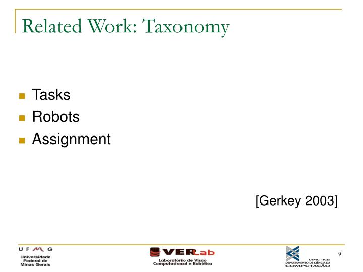 Related Work: Taxonomy
