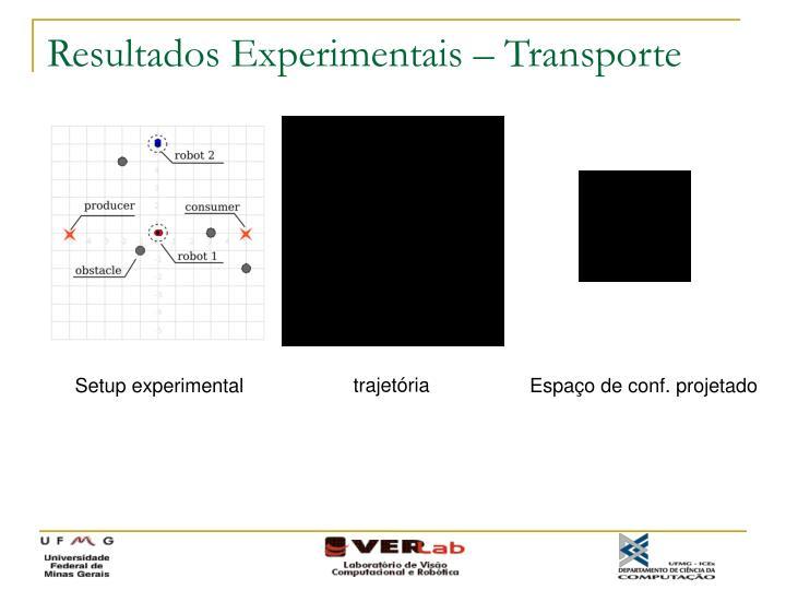 Resultados Experimentais – Transporte