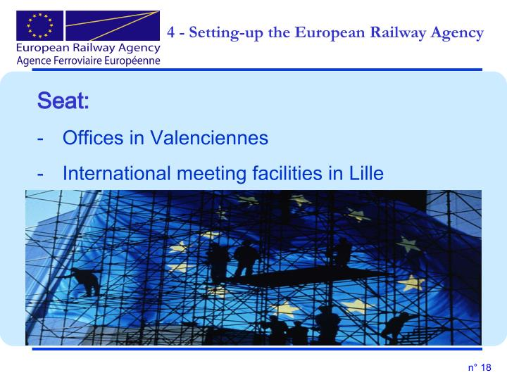 4 - Setting-up the European Railway Agency