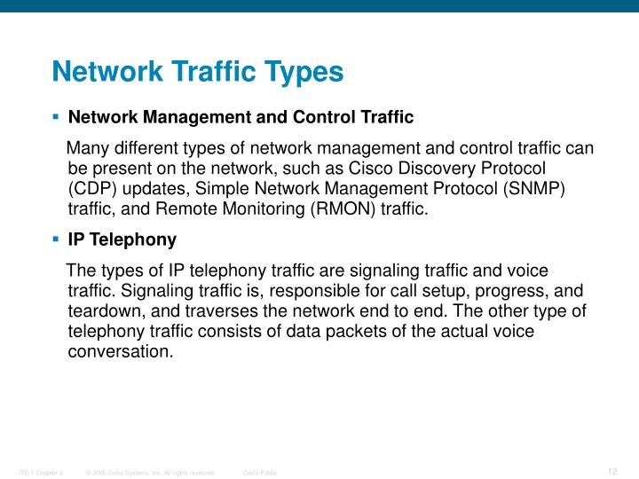 Network Traffic Types