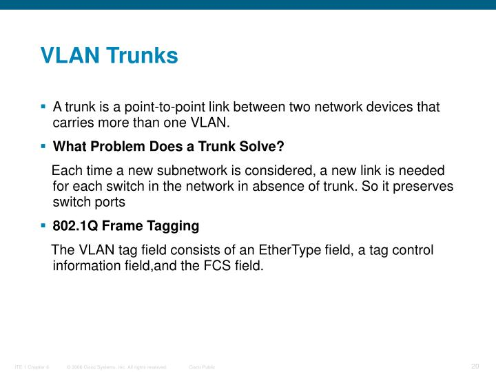 VLAN Trunks