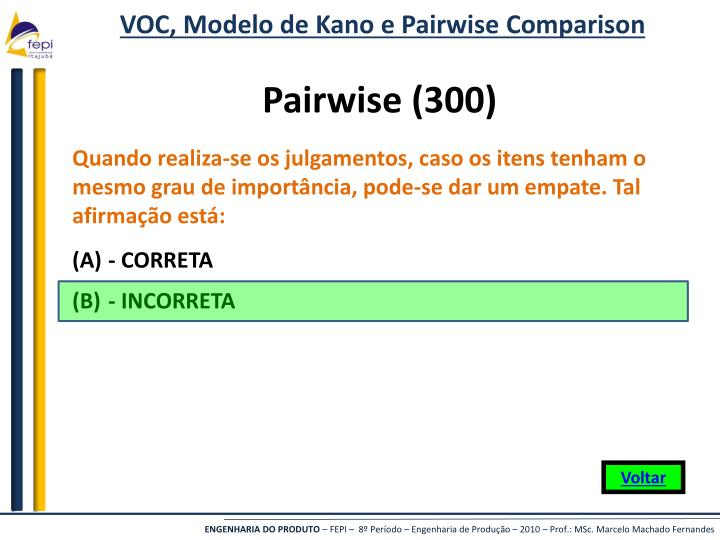 VOC, Modelo de