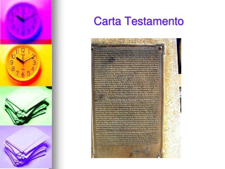 Carta Testamento