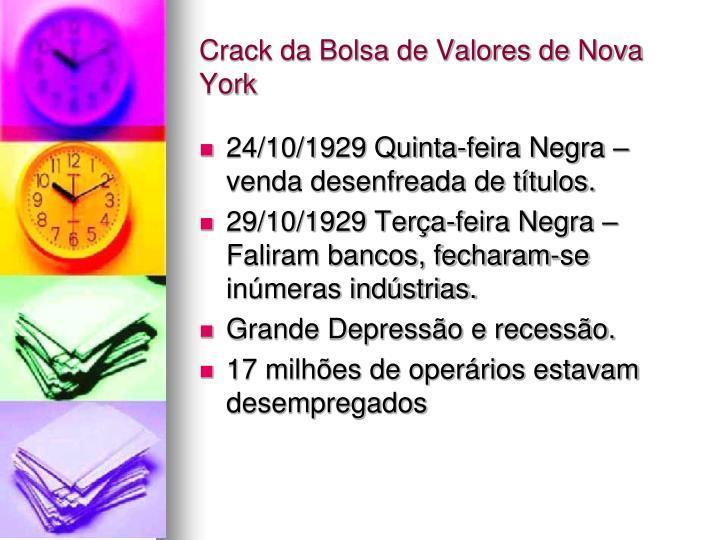 Crack da Bolsa de Valores de Nova York