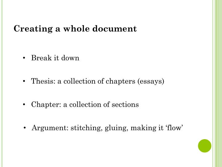 Creating a whole document