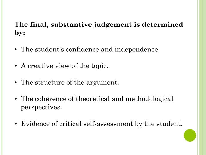 The final, substantive