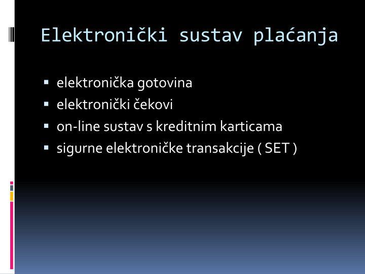 Elektronički sustav plaćanja