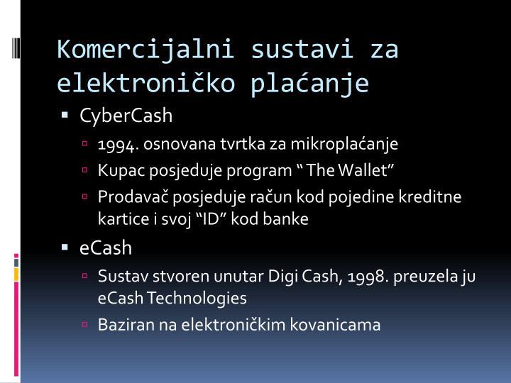 Komercijalni sustavi za elektroničko plaćanje