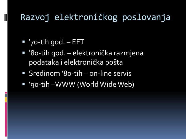 Razvoj elektroničkog poslovanja