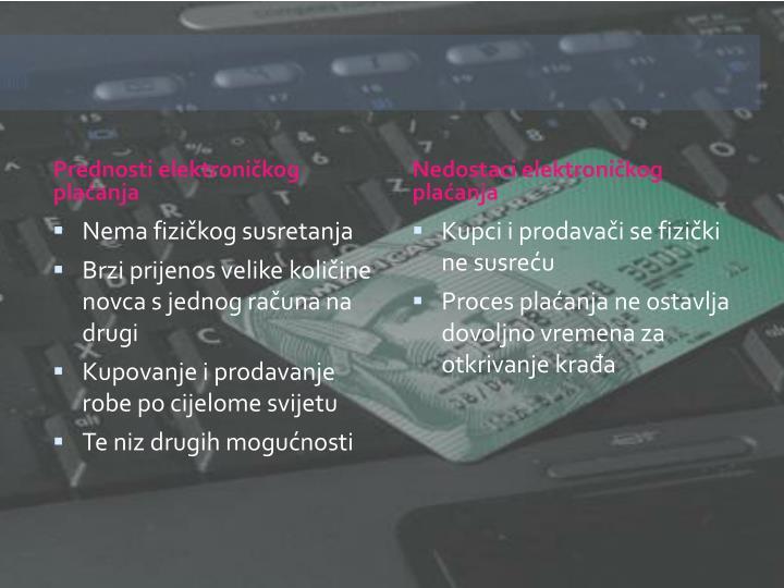 Prednosti elektroničkog plaćanja